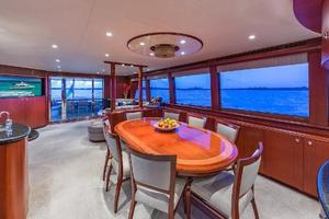 88' Cheoy Lee  2007 Dining Table Aft