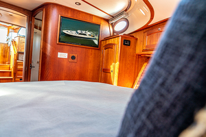 48' Hinckley Talaria 48 Motor Yacht 2013 TV in the master stateroom