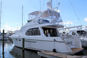 50' Ocean Alexander 500 Sports Sedan 1998 Profile At Dock
