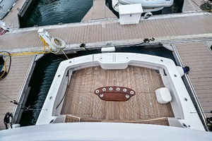46' Viking 46 Convertible 2015 Cockpit View From Flybridge