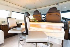 105' Mangusta  2011 Main Salon Backlit Onyx Bar