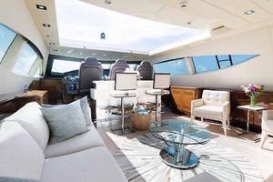 105' Mangusta  2011 Main Salon Forward 2