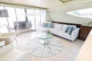 105' Mangusta  2011 Main Salon Aft 2