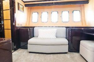 105' Mangusta  2011 Master Stateroom Port Side Couch
