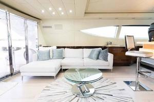 105' Mangusta  2011 Main Salon Port Side