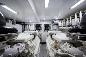 68' Princess 68 Flybridge Motor Yacht 2018 Engine Room