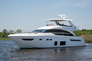 68' Princess 68 Flybridge Motor Yacht 2018 Port Side