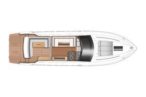 52' Princess V52 2015 Manufacturer Provided Image: Princess V52 Lower Deck Layout Plan