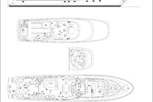 112' Westport Motoryacht 2010 Deck Plans