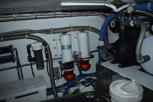 57' Spencer Sportfish 2013 Engine Room Racor Filters