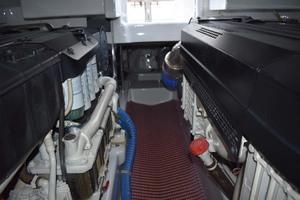 57' Spencer Sportfish 2013 Engine Room Aft