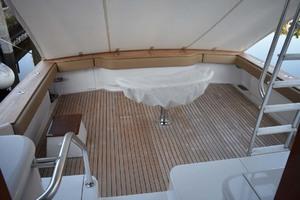 57' Spencer Sportfish 2013 Cockpit with Teak Decking and Padded Coaming