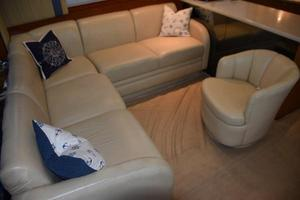 48' Ocean Yachts  2003 Salon settee and barrel chair