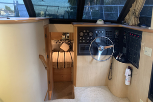 52' Bluewater Yachts Flybridge 2005  Lower Helm and Companionway to VIP Stateroom