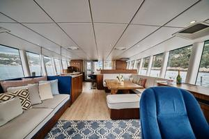 111' Circa Marine Fpb97 2014 Saloon Looking Aft From Helm