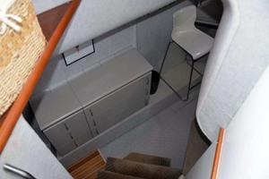 50' Custom Artisanal Power Catamaran 2014 HeadingDownToPortStateroomOfficeWorkshop