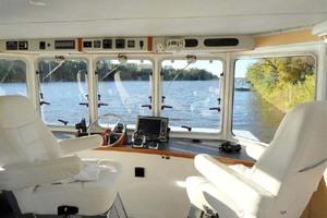 50' Custom Artisanal Power Catamaran 2014 Helm