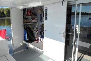 50' Custom Artisanal Power Catamaran 2014 AftStorageLocker