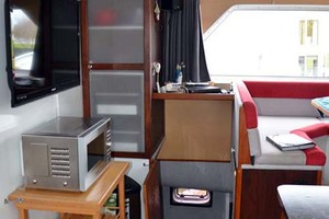 50' Custom Artisanal Power Catamaran 2014 SecondPantryandStairwayToStarboardStateroomandGues