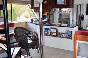 50' Custom Artisanal Power Catamaran 2014 SalonEnteringFromAftDeck