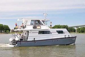 50' Custom Artisanal Power Catamaran 2014 Underway