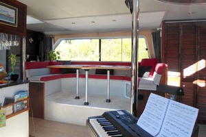 50' Custom Artisanal Power Catamaran 2014 Dinette