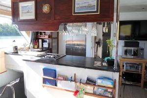 50' Custom Artisanal Power Catamaran 2014 GalleyFromSalon