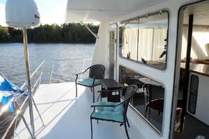 50' Custom Artisanal Power Catamaran 2014 UpperAftDeck