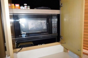 52' Hatteras Convertible 1986 Microwave and Convection Oven