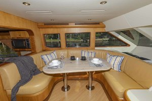 68' Cheoy Lee 68my 2005 Pilothouse Dining Area