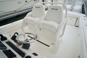is a Regulator 34 Yacht For Sale in Orange Beach-Helm Seats   Leaning Post-17