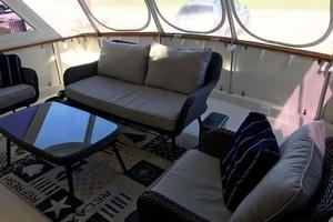 53' Hatteras Motor Yacht Classic 1984 AftDeck