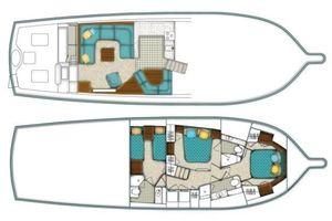 54' Ocean Yachts Convertible 2009 54OceanYachtsLayout