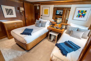 Twin Guest Stateroom, portside fwd
