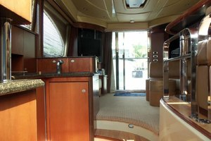 52' Sea Ray Sedan Bridge 2005 SalonLookingAftFromGalley