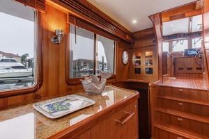 60' Selene 60 Ocean Trawler 2010 Salon To Helm Station