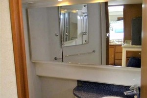A MODO MIO is a Cabo 40 Express SF Yacht For Sale in North Palm Beach-Head Vanity-20