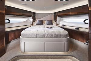 V78 Interior Forward Guest Cabin Walnut Gloss