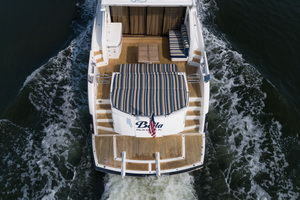 64 Sunseeker Aerial of Aft Deck/Sunpad/Swim Platform