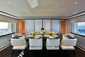 MAJESTY 120 is a Majesty Yachts Raised Pilothouse Yacht For Sale-Dining-5