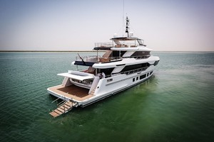 MAJESTY 120 is a Majesty Yachts Raised Pilothouse Yacht For Sale-Aft View-37