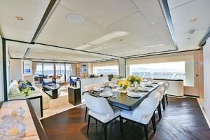 MAJESTY 120 is a Majesty Yachts Raised Pilothouse Yacht For Sale-Dining-6