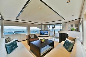 MAJESTY 120 is a Majesty Yachts Raised Pilothouse Yacht For Sale-Sky Lounge-22