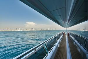 MAJESTY 120 is a Majesty Yachts Raised Pilothouse Yacht For Sale-Walk-Around-26