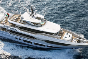 MAJESTY YACHTS 120 is a Majesty Yachts Tri-Deck Yacht For Sale-Aerial View-1