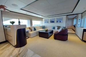 MAJESTY 120 is a Majesty Yachts Raised Pilothouse Yacht For Sale-Sky Lounge-23