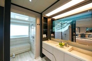 MAJESTY 120 is a Majesty Yachts Raised Pilothouse Yacht For Sale-Master Head-15