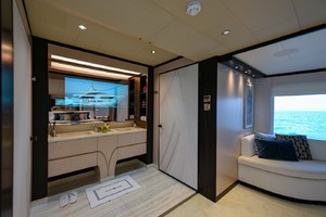 MAJESTY 120 is a Majesty Yachts Raised Pilothouse Yacht For Sale-Master Head-14