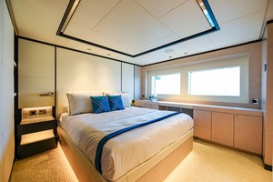 MAJESTY 120 is a Majesty Yachts Raised Pilothouse Yacht For Sale-Double Guest Stateroom-16