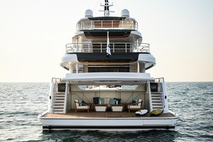 MAJESTY 120 is a Majesty Yachts Raised Pilothouse Yacht For Sale-Aft View-36